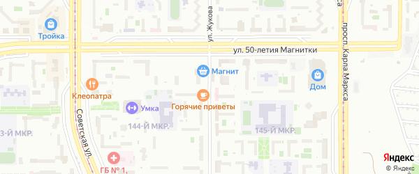 Улица Жукова на карте Магнитогорска с номерами домов