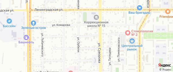 Халиловский переулок на карте Магнитогорска с номерами домов