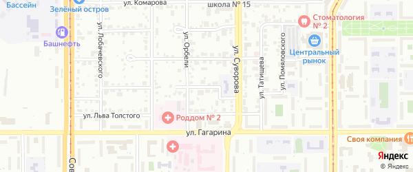 Коломенский переулок на карте Магнитогорска с номерами домов