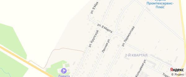 Улица Крупской на карте Сатки с номерами домов