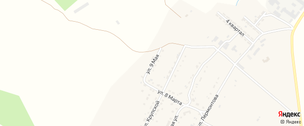 Улица 8 Марта на карте Сатки с номерами домов