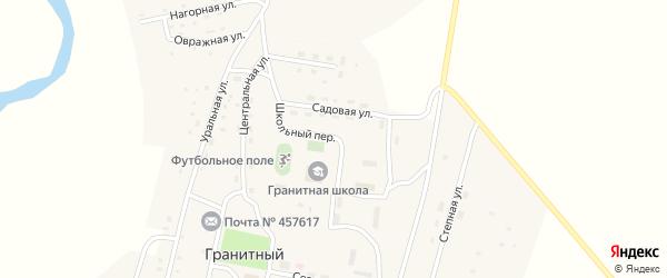 Школьный переулок на карте Гранитного поселка с номерами домов
