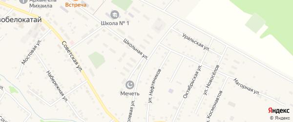 Полевая улица на карте села Новобелокатая с номерами домов
