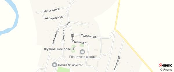 Садовая улица на карте Гранитного поселка с номерами домов