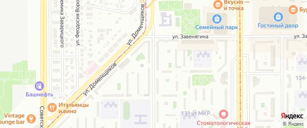 Улица Галиуллина на карте Магнитогорска с номерами домов