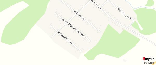 Улица им Мустая Карима на карте села Новобелокатая с номерами домов