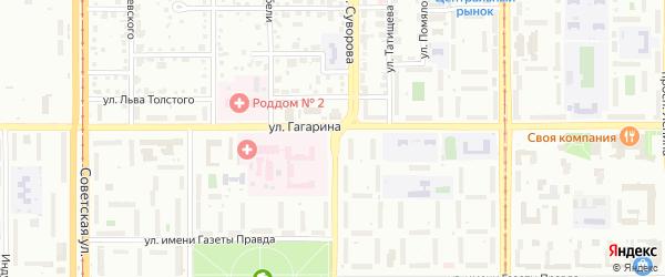 Улица Суворова на карте Магнитогорска с номерами домов
