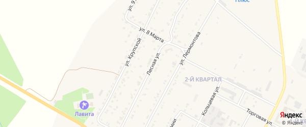 Лесная улица на карте Сатки с номерами домов