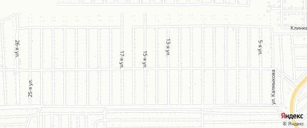 Территория ГСК Калибровщик-2 на карте Магнитогорска с номерами домов