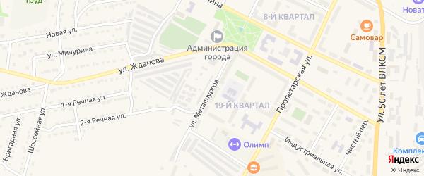 Улица Металлургов на карте Сатки с номерами домов