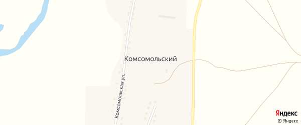 Восточная улица на карте Комсомольского поселка с номерами домов