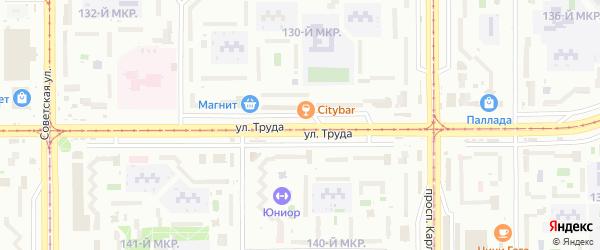 Улица Труда на карте Магнитогорска с номерами домов
