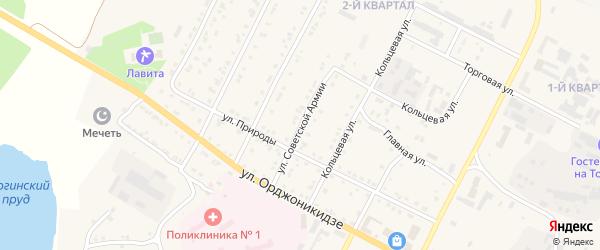 Улица Советской Армии на карте Сатки с номерами домов