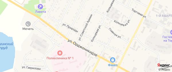 Улица Природы на карте Сатки с номерами домов