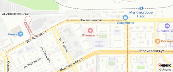 Улица Чекалина на карте Магнитогорска с номерами домов