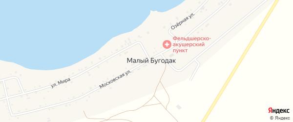 Московская улица на карте поселка Малого Бугодака с номерами домов