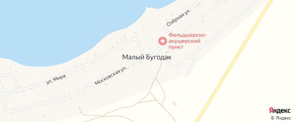 Дачная улица на карте поселка Малого Бугодака с номерами домов