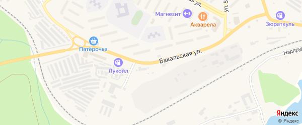 Бакальская улица на карте Сатки с номерами домов
