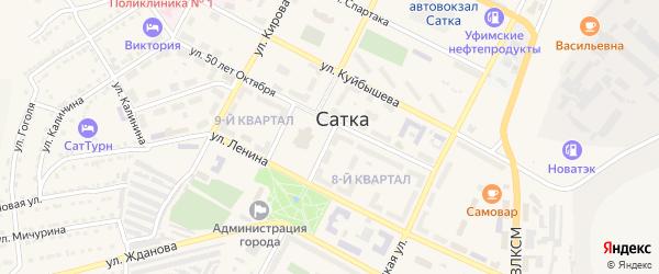 Проезд Гоголя на карте Сатки с номерами домов