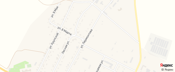 Улица Лермонтова на карте Сатки с номерами домов