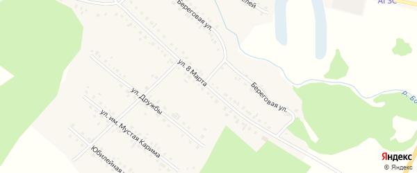 Улица 8 Марта на карте села Новобелокатая с номерами домов
