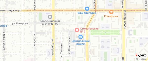 Улица Татищева на карте Магнитогорска с номерами домов