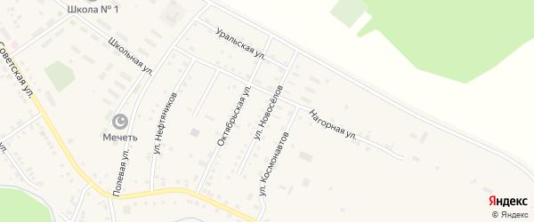 Улица Новоселов на карте села Новобелокатая с номерами домов