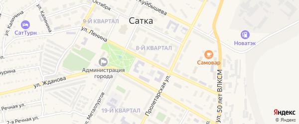 Улица Ленина на карте Сатки с номерами домов