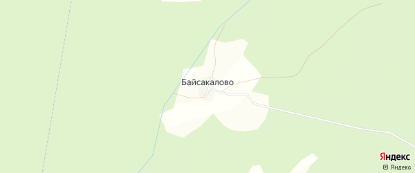 Карта деревни Байсакалово в Башкортостане с улицами и номерами домов