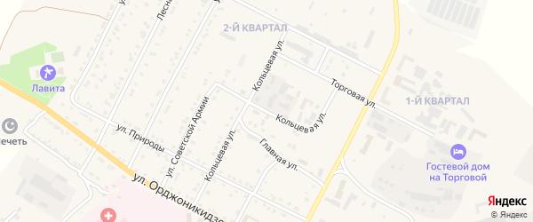 Кольцевая улица на карте Сатки с номерами домов