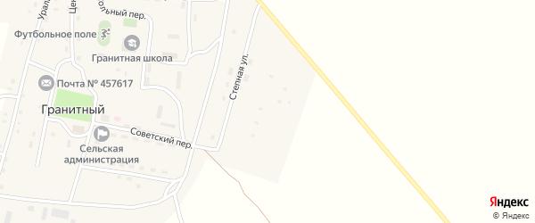 Степная улица на карте Гранитного поселка с номерами домов