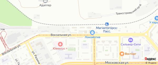 Территория ГСК Вокзальная 31А на карте Магнитогорска с номерами домов