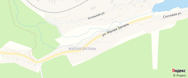Улица Малая Запань на карте Сатки с номерами домов