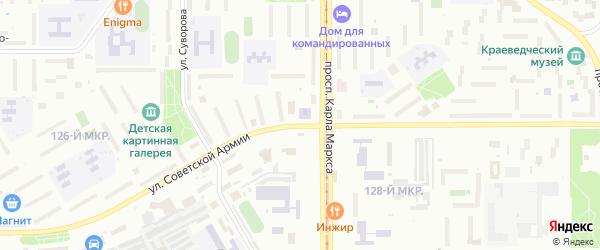 Улица Советской Армии на карте Магнитогорска с номерами домов