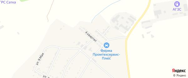 4-й квартал на карте Сатки с номерами домов