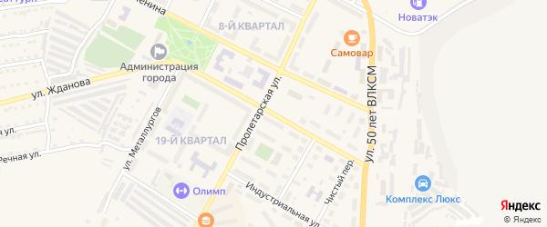 Молодежная улица на карте Сатки с номерами домов