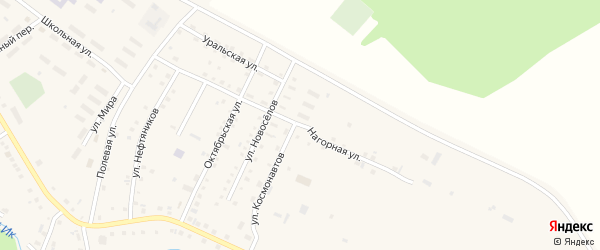 Нагорная улица на карте села Новобелокатая с номерами домов