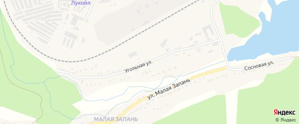 Угольная улица на карте Сатки с номерами домов