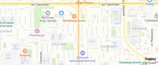 Проспект Карла Маркса на карте Магнитогорска с номерами домов