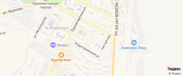 Светлый переулок на карте Сатки с номерами домов