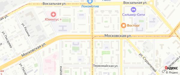Московская улица на карте Магнитогорска с номерами домов