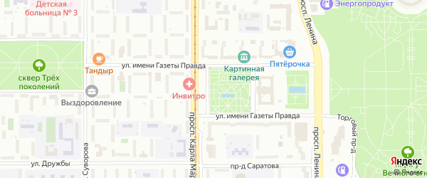 Улица Созвездий на карте Магнитогорска с номерами домов