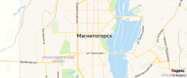 Карта Магнитогорска с районами, улицами и номерами домов
