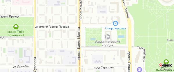 Территория ГСК Сталевар на карте Магнитогорска с номерами домов