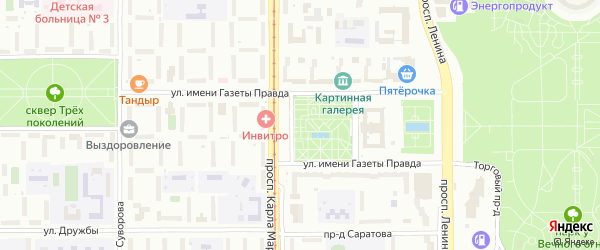 Загорская улица на карте Магнитогорска с номерами домов