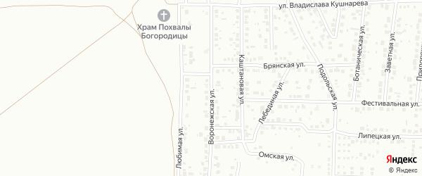 Воронежская улица на карте Магнитогорска с номерами домов