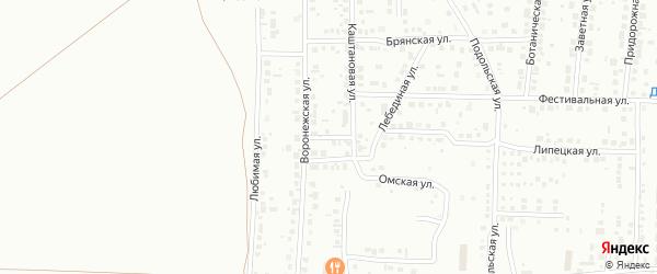 Тепличный переулок на карте Магнитогорска с номерами домов