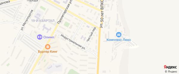 Чистый переулок на карте Сатки с номерами домов