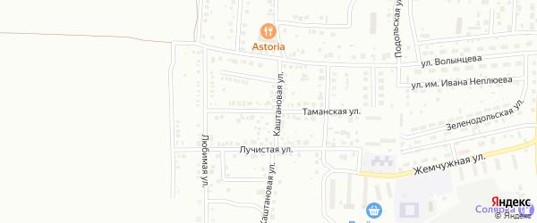 Таманская улица на карте Магнитогорска с номерами домов
