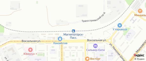 Территория ГСК Южный Урал Блок4 на карте Магнитогорска с номерами домов